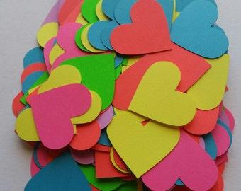 Heart Shape Scrap Booking Die Cut Outs ( Valentines Decor, Party Decoration, etc..)