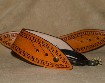 Hand Tooled Spur Straps