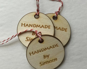 Custom wood engrave tag, knitting tag, wood custom tag, personalized wood tag, engraved tag