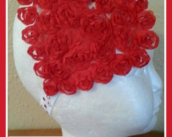 Shabby Red Heart Headband