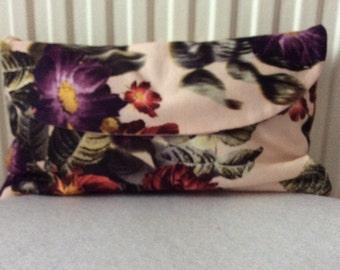 Vintage floral clutch bag