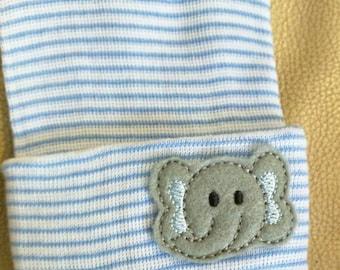 Elephant Newborn Hospital Hat! 1st Keepsake! 1st Hat! Newborn Hospital Hat! Great Gift! Super Cute!