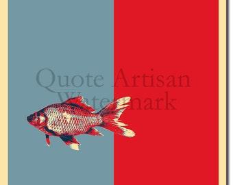 Goldfish Original Art Print - Photo Poster Gift