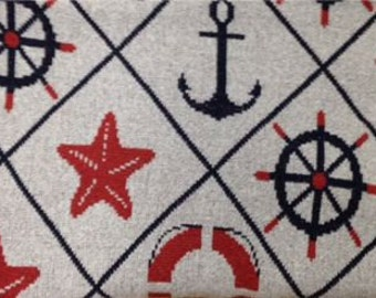 Nautical Eco-Cotton Throw Blanket