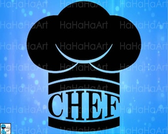 Chef Hat Kitchen - Cutting Files Svg Png Jpg Eps Dxf Digital Graphic Design Instant Download Commercial Use Shirt Cook Hat Master (00663c)