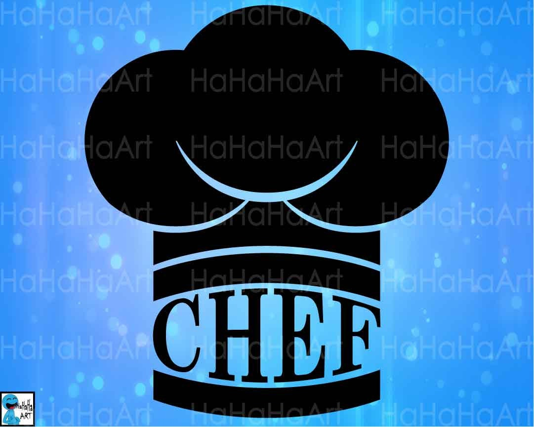 Chef Hat Kitchen Cutting Files Svg Png Jpg Eps Dxf Digital