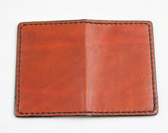 Tooled Leather Mini Wallet 2 Card Slots