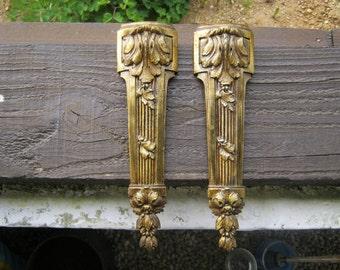 Pair of French Vintage Bronze/Ormolu Furniture Mounts
