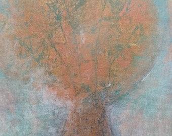 Tree in Fog - Original Framed Artwork