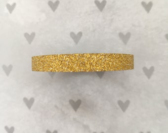 WashiTape Glitter, Goud, Washi, small, 0,5 cm breed, 5 meter lang