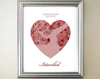 Istanbul Heart Map
