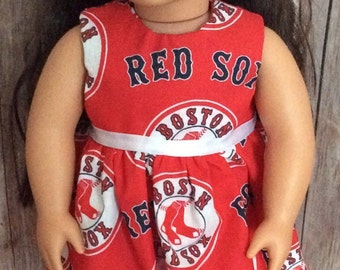 """18"""" Doll, American Doll**Clothes **Dress**Red Sox**"""