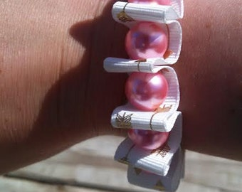 Ribbon arrow bracelet