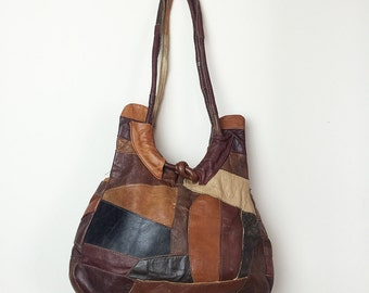 Vintage collage shoulder bag purse