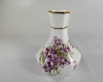Vase, Vintage Hammersley Violets Posy Vase