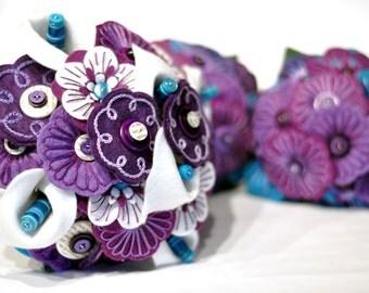 Deposit for Bespoke Wedding Bouquet or Flower set / Deposit for Wedding Bouquet /Felt Button Bouquet / Bespoke Wedding Flower set