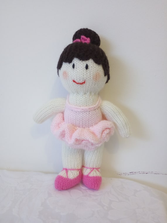 Knitting Pattern Ballerina Doll : Hand knitted Brigit the ballerina doll designed by Jean