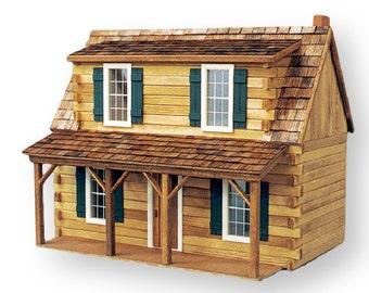 Adirondack Log Cabin Unfinished Dollhouse Kit