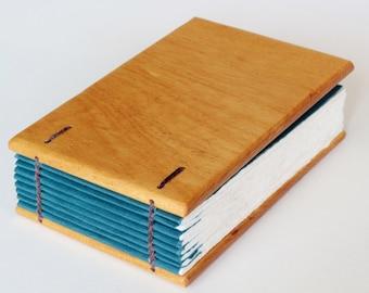 Small Apple Wood Journal / Notebook Handmade