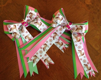 Horse Show Hair Bows, Hair Accessory 4 Horse Crazy Girls