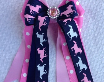Bows for Horse Shows/Pink Pony Bling