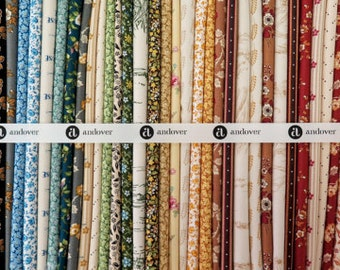 """Little House On The Prairie Cotton Quilt Fabric 46 Piece Layer Cake 10"""" Squares by Andover Fabric"""