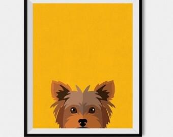 Yorkshire Terrier Art Print, Yorkie Wall Art, Yorkie Lovers, Yorkshire Dog Poster Print 8x10