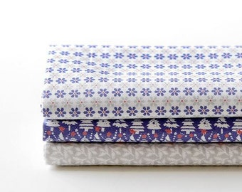 Snow Bell - Quarter Fabric Pack 3 Fabric 1 set - Sets for 3 each 45 X 55 cm