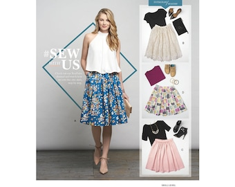 Misses' Skirts in Three Lengths Simplicity Pattern 8176
