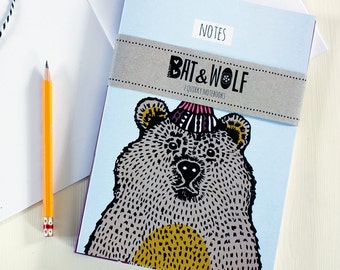 Pack Of 2 Illustrated Notebooks