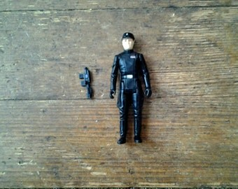 1980 Imperial Commander (Round Head Variant), Star Wars: Empire Strikes Back Action Figure.  Loose.  Kenner