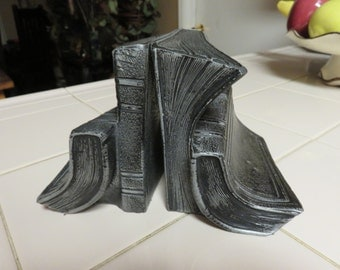 "Rare Vintage Brass""Book"" Bookends"