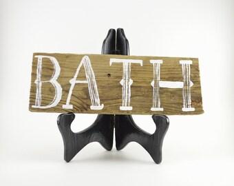 Rustic Sign Rustic Wooden Sign Bathroom Decor Bathroom Sign Wooden Bath Sign