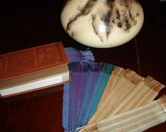 Handwoven Book Marks, Teacher Gifts, Handwoven, Hand woven Book Marks