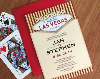 Vegas Themed Wedding Invitation Suite
