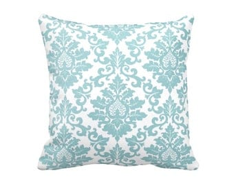 Blue Pillow Cover Blue Throw Pillow Cover Blue Damask Pillows Shabby Chic Pillows Decorative Pillows for Couch Pillows Blue Accent Pillows