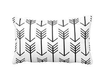 Black Pillow Cover Black Throw Pillow Cover Lumbar Pillows Black Tribal Pillows Aztec Pillows 12x20 Pillow 12x18 Pillows Decorative Pillows