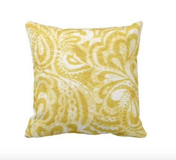 sale 50 16x16 pillow cover yellow throw pillow cover