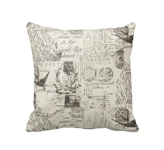 Shabby Chic Deer Pillow : Throw Pillow Cover Shabby Chic Pillows Rustic Pillows Shabby
