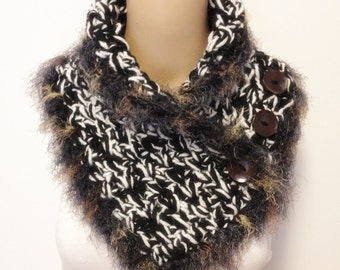 Only One Wool Thick Soft Three Combined Strans Neckwarmer Not Itchy