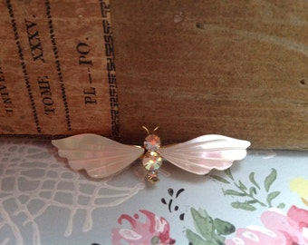 Pretty Mother of Pearl brooch sparkling decorative accessory