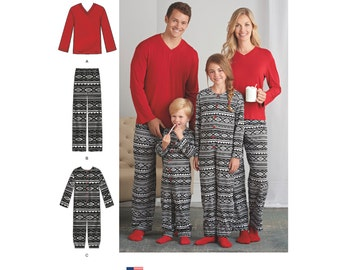 Simplicity Pattern 8269 Child's Girls' and Boys' Jumpsuit and Teens' and Adults' Pants and Knit Top