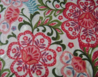 Floral Fleece Fabric ( 1 yard 14 inches)