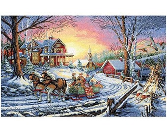 Pleasures of Winter Counted Cross Stitch Kit