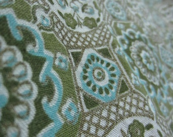 Vintage 1970s Turquoise Fabric Tapestry
