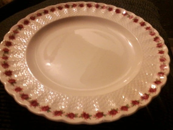 """Antique RARE Beautiful Copeland Spode 10 1/2"""" Dinner Plate,Rosedale. Great Condition"""