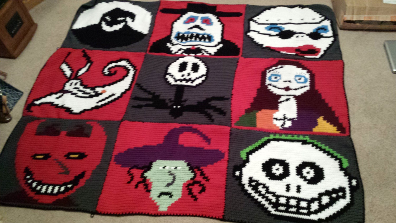 Nightmare Before Christmas Crochet Graph Graphgan Jack