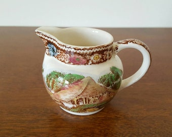 Rural England Midwinter LTD Pitcher - Brown Transferware - Made in England