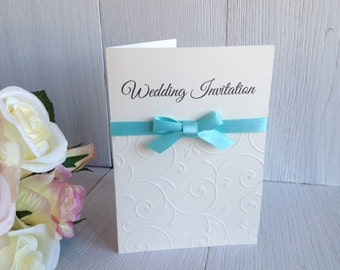 20 Handmade Embossed Wedding Invitations