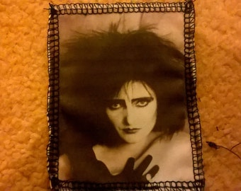Siouxsie Sioux siouxsie and the banshees handprinted overlocked cotton punk sew on patch